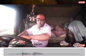 Watch: Exhausted driver crashes truck and continues his sleep