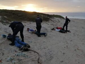 Four suspects caught redhanded dumping 3 bodies at Strandfontein