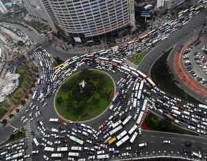most congested city sa