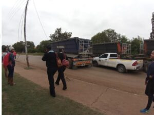 Protesters hijack trucks, use them to block off roads in Lydenburg