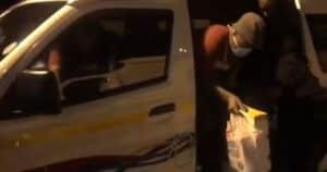 Watch: Cops stop taxi overloaded with 30 Spar employees during lockdown