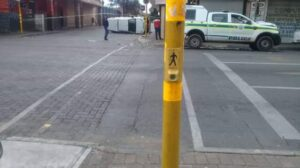 Watch: Two SAPS vans collide in empty Mayfair streets