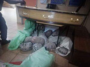 Two KZN men nabbed at roadblock stashing dagga in a coffin