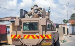 WATCH | Army truck overturns avoiding taxi driving on wrong side of the road