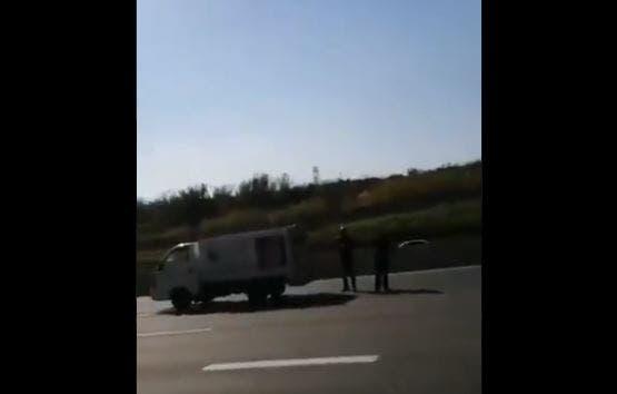 Watch: Horrific crash on freeway captured on camera