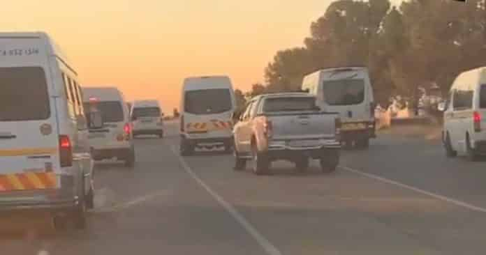 Watch: Reckless taxis cause a head-on collision in Welkom