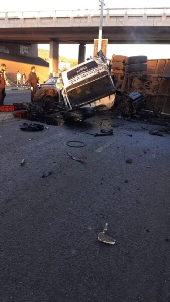 R59 michelle ave truck accident