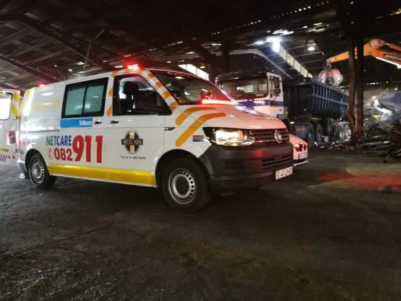 Man seriously injured after falling from truck at a Durban warehouse
