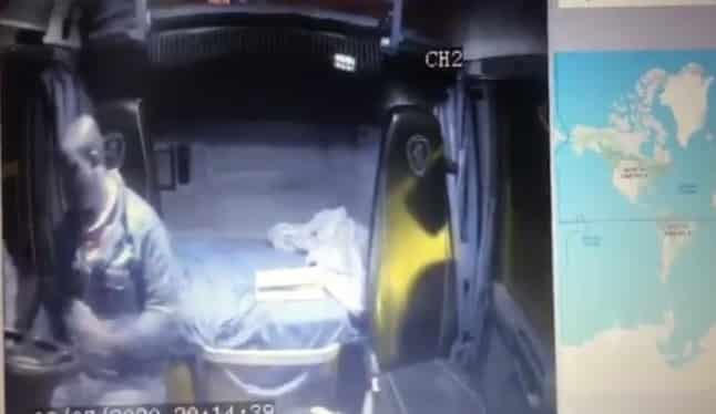 Watch: Truck driver shot after being robbed of cellphone