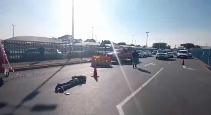 Watch: Alleged robbery at OR Tambo leaves 2 dead, 7 injured