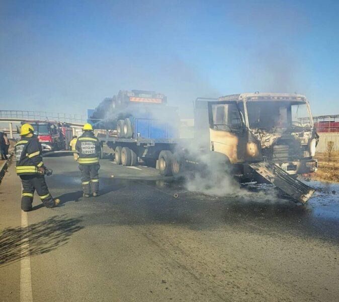 Striking truck drivers burn trucks, block major highways across the country