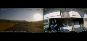 Watch: Dashcam captures trucker using cellphone while driving, crash at 79km/h