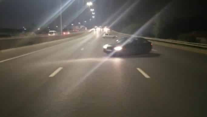 Watch: 'ATDF members' dangerously drift cars on the middle of the N12 in Germiston