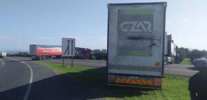trucks hijacked strike