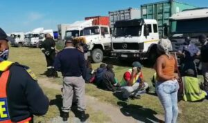 Watch: Dept of Home Affairs rounds up undocumented truck drivers in PE