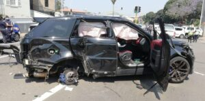 Watch: Pedestrian killed in Durban three-car collision