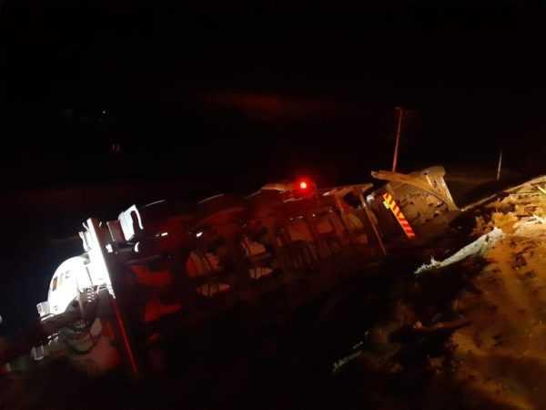Trucker injured as tanker crashes on N3 near Montrose