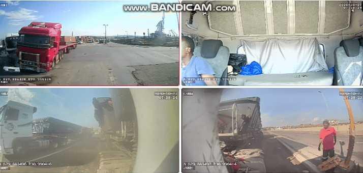 Dashcam captures fatal Durban three truck crash