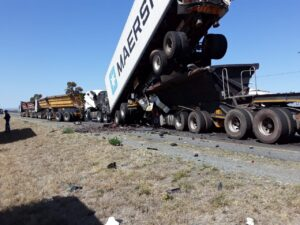 Watch: Drivers feared dead in N10 truck pile-up crash