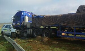 n11 truck and police car accident