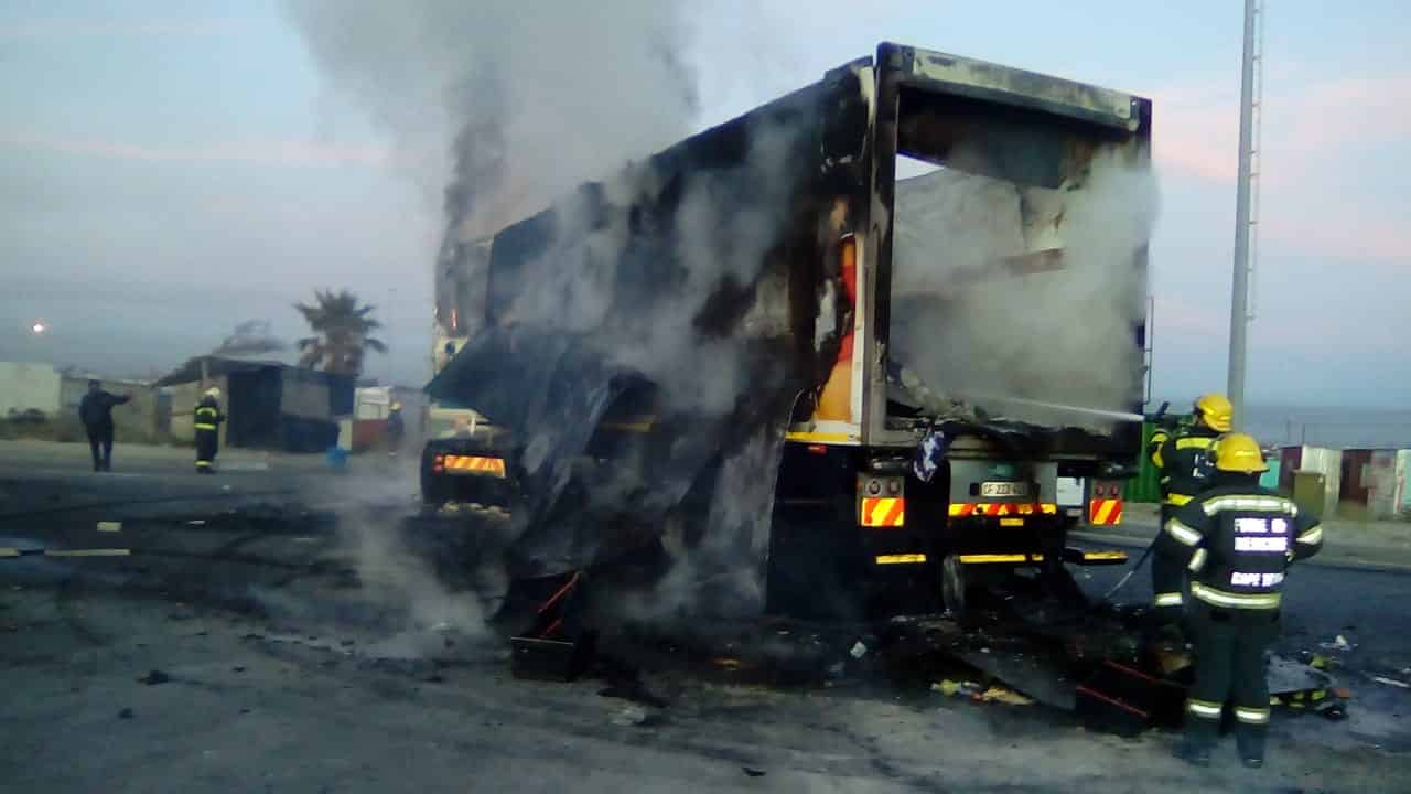 Watch: Truck burnt, roads closed in violent Khayelitsha protests