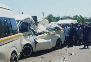 WATCH | One killed as bakkie plunges off N3 bridge landing on taxi in Durban