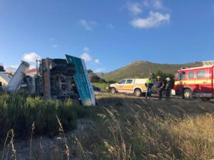 Trucker seriously injured in Western Cape rollover crash