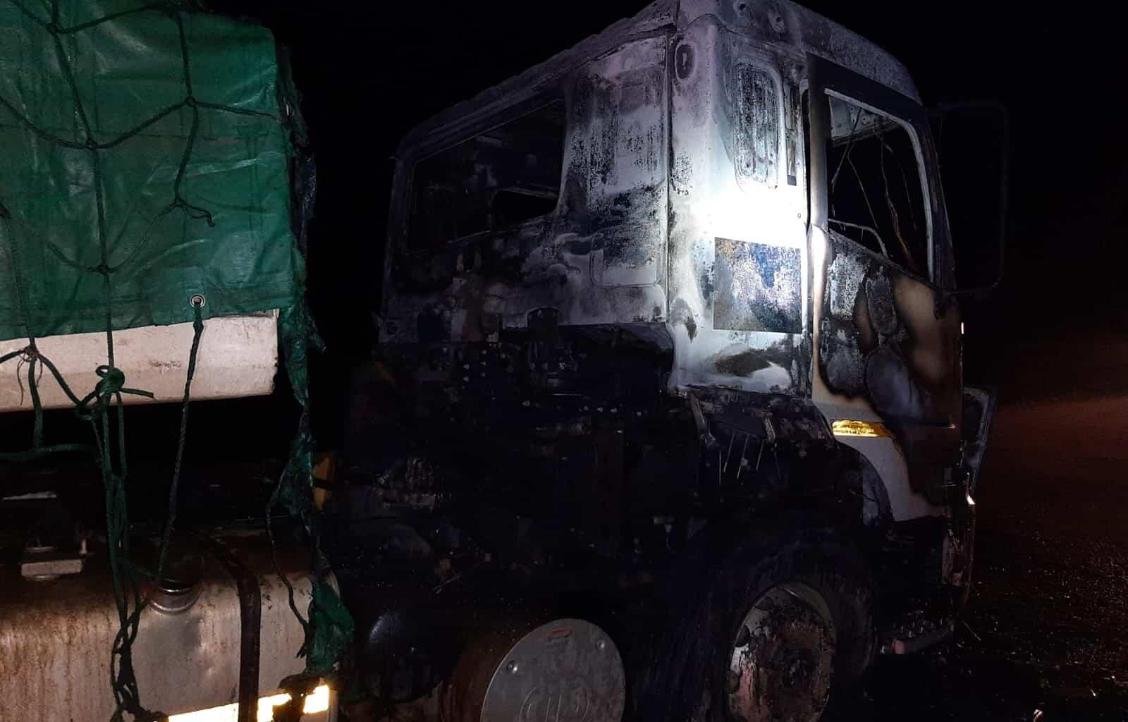 truck burned r59
