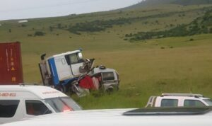 Watch: Seven killed, in horror N3 crash between a truck, Kombi and a Pajero