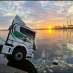 Truck crashes into sea at Durban harbour