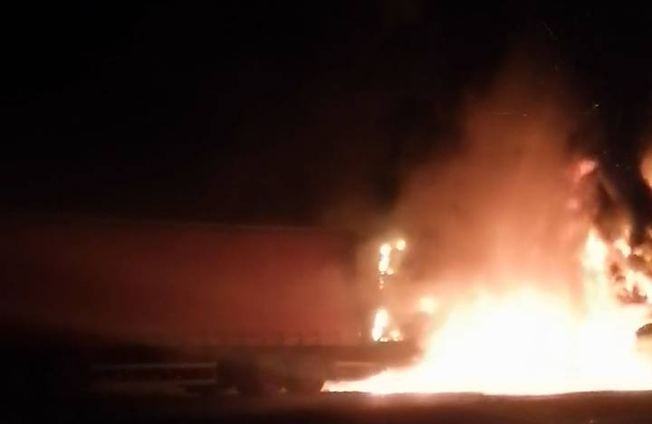 Watch: Truck driver harrassed and intimidated, truck shot and burned in KZN