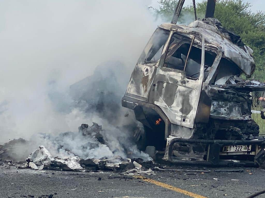 Truck driver burns to death in N1 accident