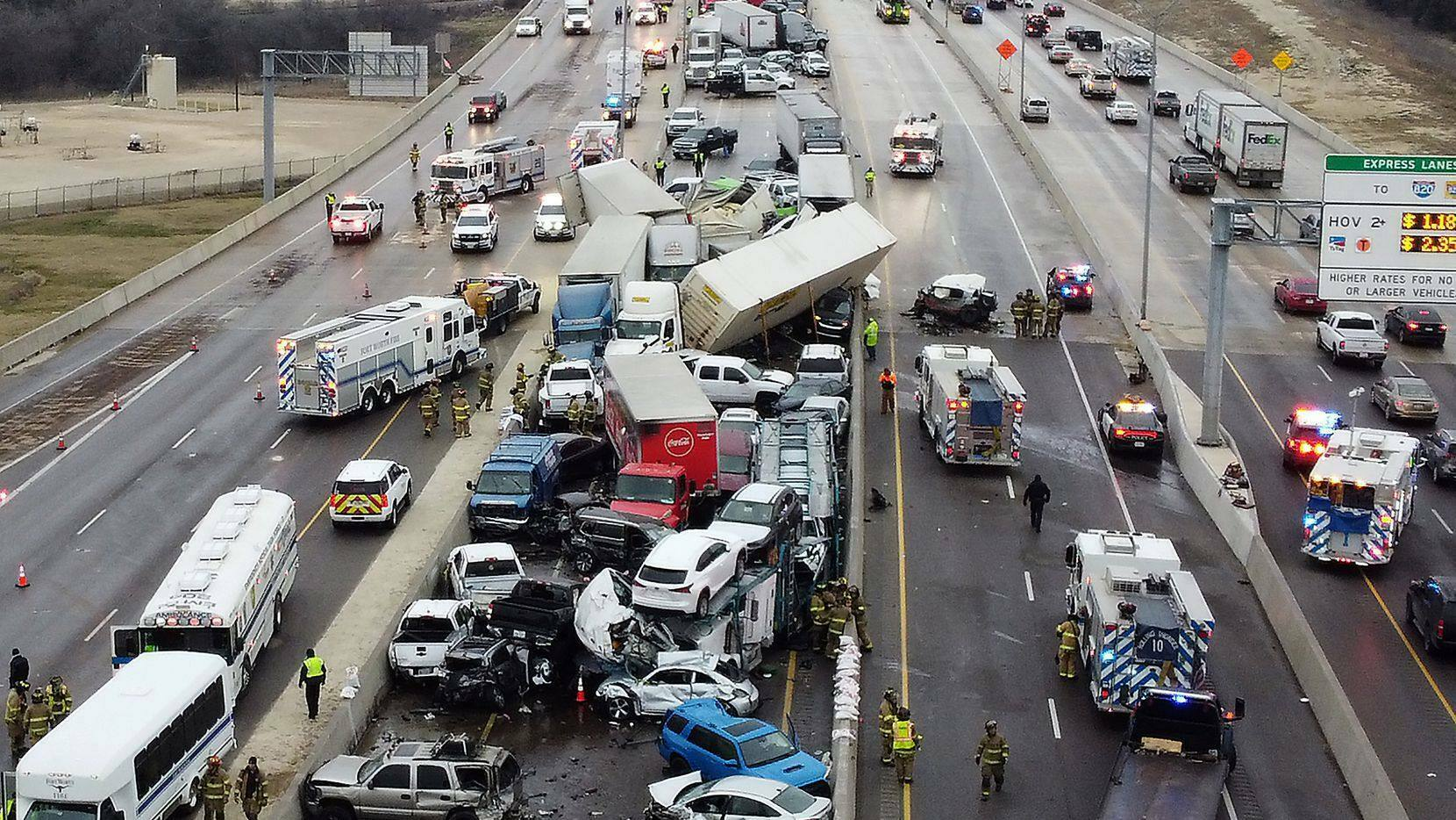 Watch: Feds probe Fort Worth 133-car pile-up which killed six in Texas