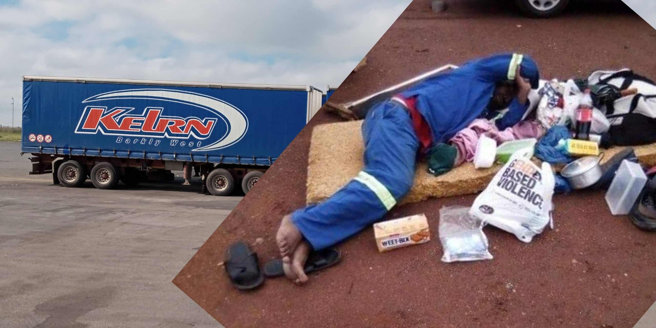 Sick Kelrn Vervoer truck driver neglected, made to sleep on the floor by his company