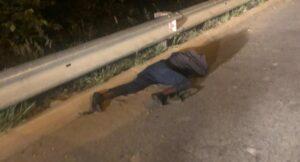 Truck driver robber shot dead