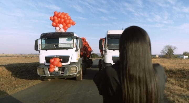Phuti Khomo man truck