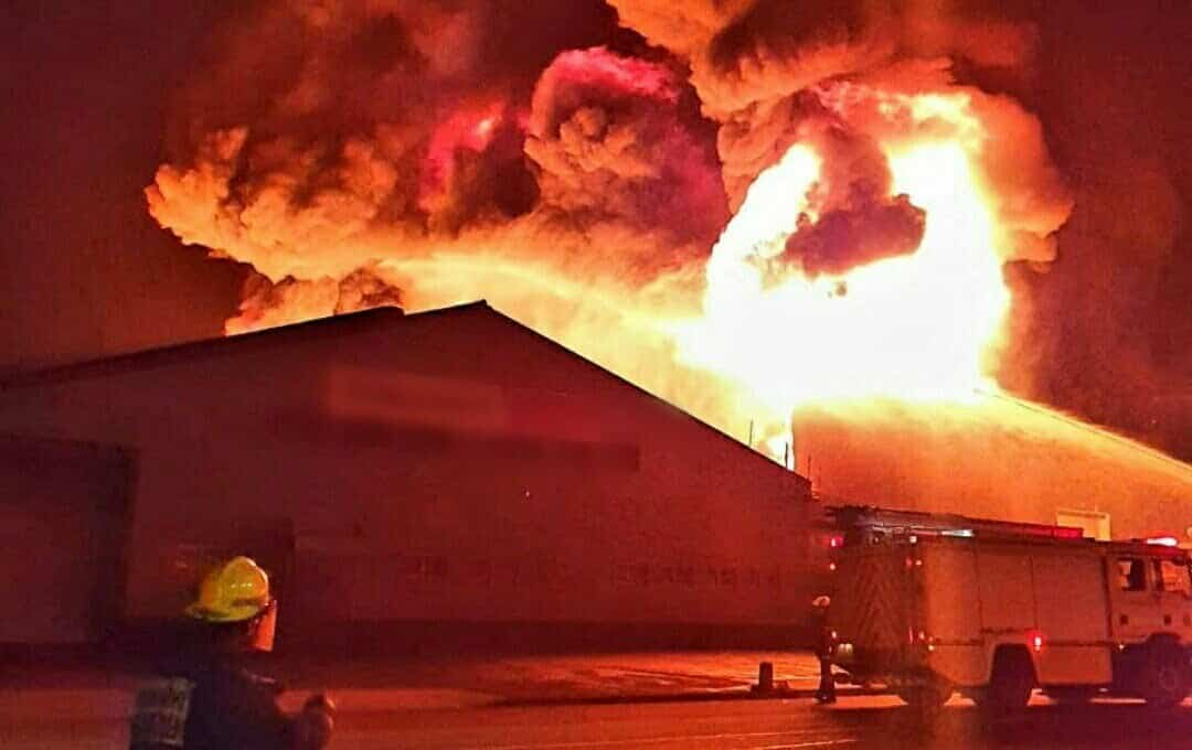 Jacobs chemical factory fire